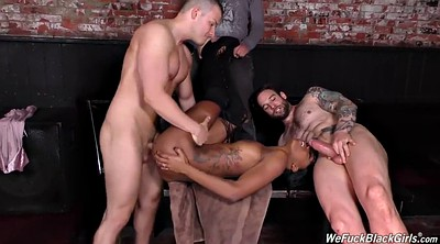 Facial, Face to face, Black girl, Gangbang black