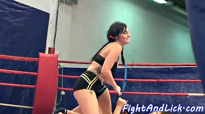 Busty, Wrestling, Busty cats, Fight