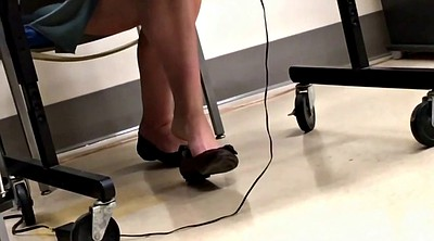 Feet, Voyeur, Teacher foot, Shoeplay
