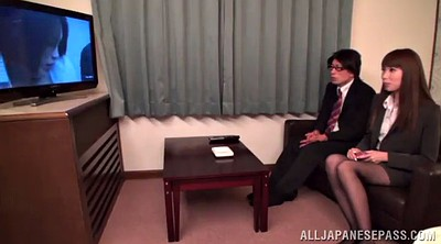 Pantyhose fuck, Asian office, Asian pantyhose