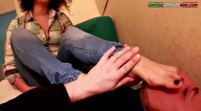 First time, Foot femdom