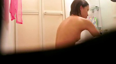 Naked, Shower solo, Asian solo