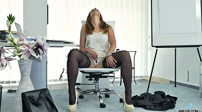 Secretary, Pantyhose masturbation, Pantyhose orgasm, Pantyhose office
