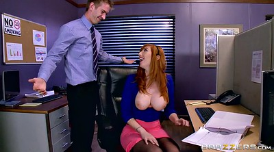Office boss, Lauren, Phillips, Masturbate, Work