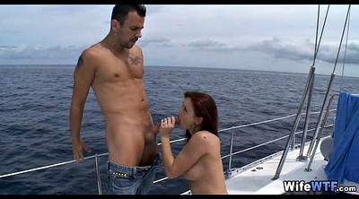 Cheating wife, Boat, Rich, Outdoor fuck