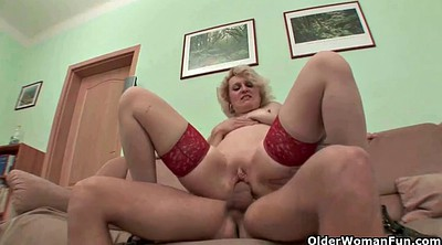 Granny stockings, Young blonde, Granny stocking
