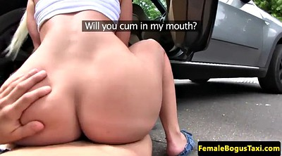 Taxi, Cock sucking, Big tits suck