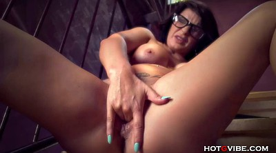 Glasses milf, Glasses, Rubbing
