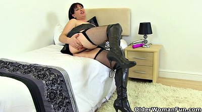 Boots, Hairy mature dildo