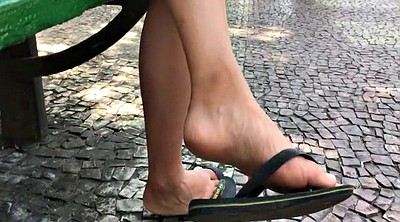 Asian foot, Asian compilation, Candid, Feet compilation, Flat, Dangling