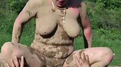 Hairy mature, Bbw mature, Mud, Hairy granny