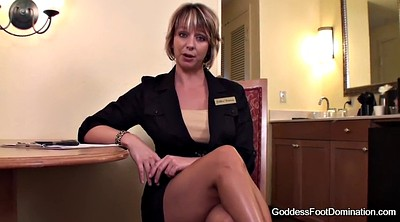 Foot job, Interview, Pov milf, Job