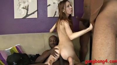 Small guy, Interracial gangbang, Black cocks, Big black cock anal
