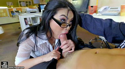 Asian beauty, Asian glasses, Cindy, Asian secretary, Asian office