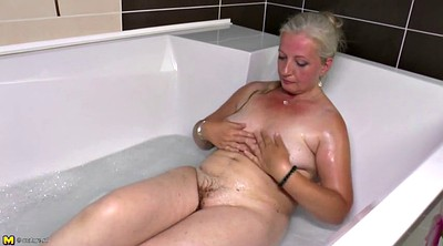 Hairy mom, Hairy milf, Bathroom