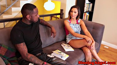 Shemale and girl, Black cock