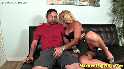 Mature handjob, Seduction