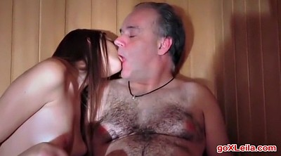Old, Young girl, Sauna, Stranger, Amateur fisting