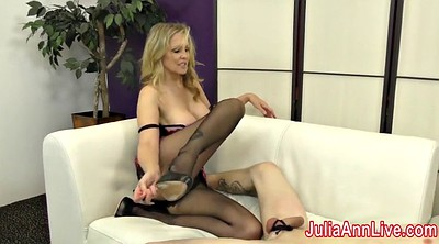 Footjob, Julia ann, Stockings foot, Stockings feet