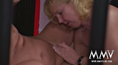 Cage, Mature redhead, Caged