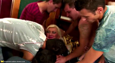 Mature gangbang, Granny group, Mature with young, Mature group, Granny bukkake
