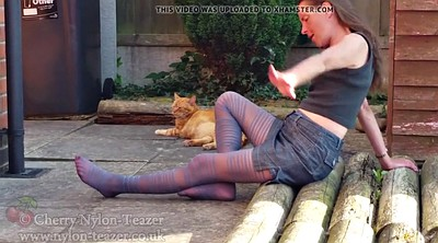 Nylon foot, Pantyhose foot, Nylon pantyhose, Milf outdoor