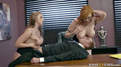 Threesoms, Busty office
