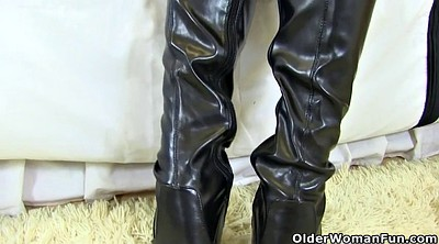 Boot, Matures, Milf boots, Leather boots, Hairy milf