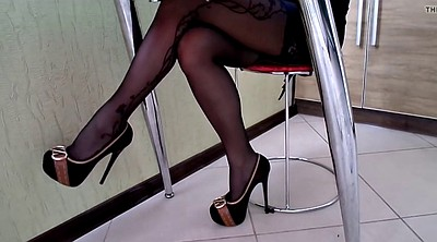 Stocking, Heels, High heels, Shoes, Stock, High-heeled shoes