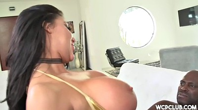 Mandingo, Nadia, Riding cock, Fishnet, Interracial chubby, Face to face