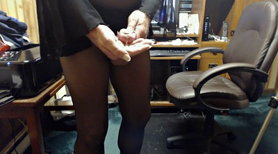 Crossdresser, Jerking, Pantyhose masturbation, Gay pantyhose, Crossdressers