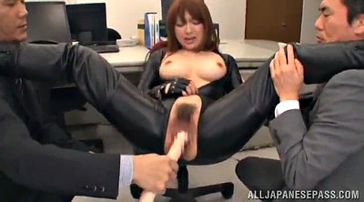Oil, Long nails, Asian threesome
