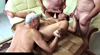 Groping, Groped, Matures, Grope, Wife gangbang, Mature gangbang
