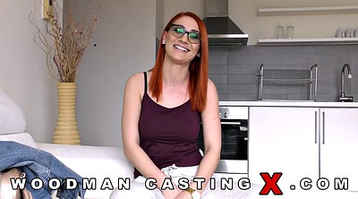 Double anal, Redhead anal, Threesome casting, Casting anal