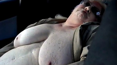 Bbw granny, Nude, Flashing car