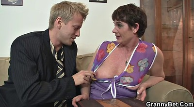 Mature, Young pussy, Hairy granny