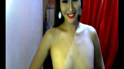 Asian tranny, Shemale cum