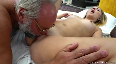 Old young, Russian massage, Glass