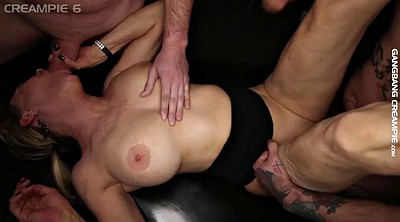 Gangbang creampie, Granny creampie, Old young creampie, Granny gangbang, Creampie orgy