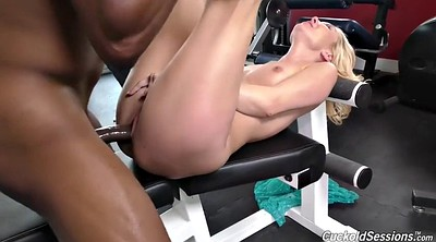 Cuckold creampie, Interracial creampie, Fit milf, Big black cock creampie