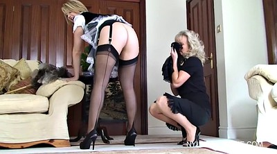 Maid, Mature masturbating