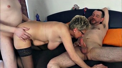 German granny, German gangbang