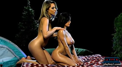 Massage, Oil massage, Oiled, Blond