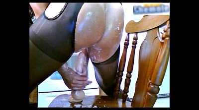 Pantyhose, Veronica, Pantyhose fuck, Shemale pantyhose, Shemale creampie, Squirt