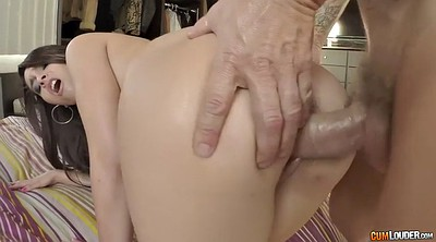 Oil ass, Panties handjob, Nikki