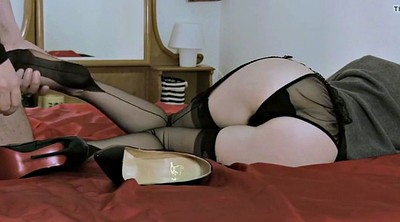 Blacked, Stockings feet, Ebony stockings