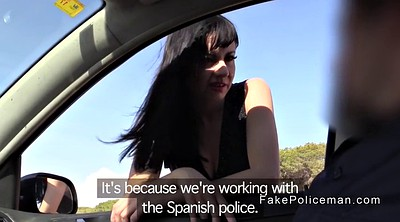 Spanish anal, Fake cop