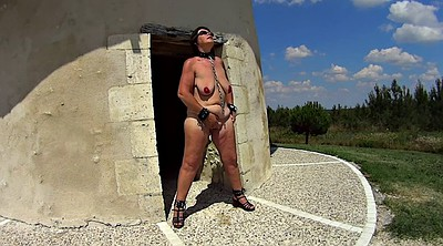 Public bdsm, Mature masturbation
