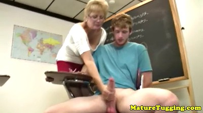 Handjob, Teacher, Blonde handjob