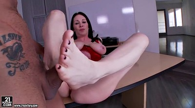 Titty, Office foot, Footsie, Foot cumshot, Foot fucked